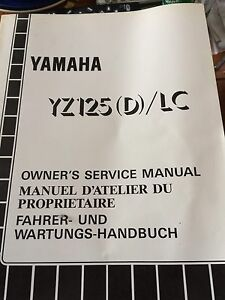 Yamaha YZ125(D)LC Owners Service Manual