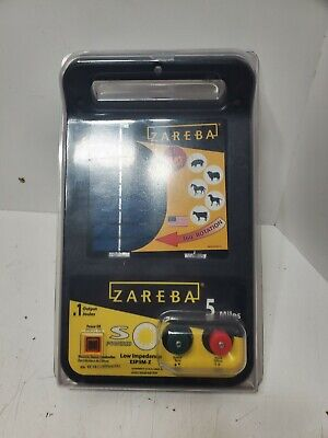 Zareba 5 Miles Solar Fence Chrger Solid State Electric Fence Controller New