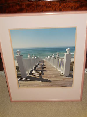 "Original signed framed Color Photograph printed by  Nels Johnson "" Seaside"""