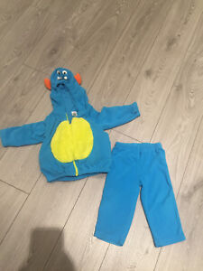 Carters little blue monster costume fleece 18 months