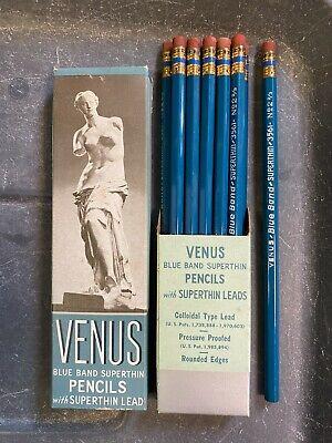 VINTAGE VENUS BLUE BAND SUPERTHIN PENCILS NOS NEW RARE