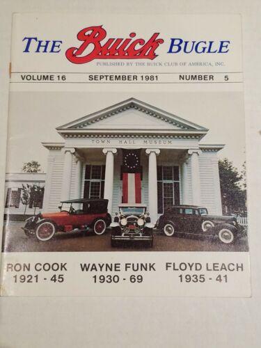 THE BUICK BUGLE MAGAZINE SEPTEMBER 1981  vol. 16  #5