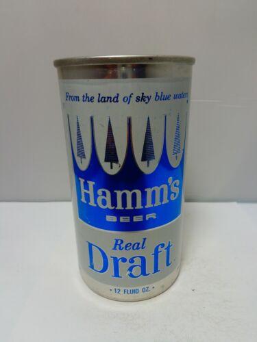 HAMMS REAL DRAFT STRAIGHT ALUMINUM PULL TAB BEER CAN #72-10  ST. PAUL, MINNESOTA
