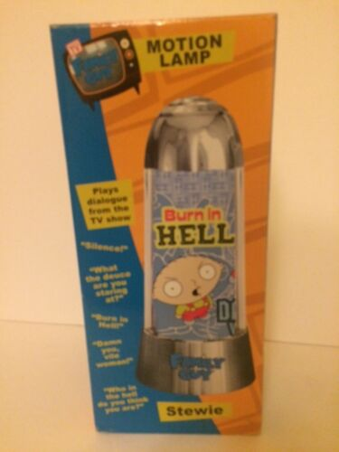 Family Guy: Stewie BURN IN HELL Motion Lamp MIB