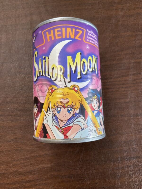 Vintage 1997 Heinz Can Of Sailor Moon Pasta Shapes Tomato Sauce Spaghettios NEW