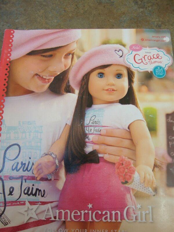 AMERICAN GIRL CATALOG January 2015 GRACE THOMAS Girl of the Year DOLL