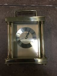 645-584  AUDRA - A Brass Table Clock By HOWARD MILLER