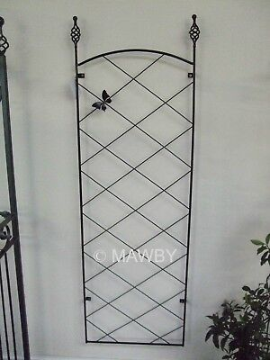 REGENT WALL TRELLIS WITH BUTTERFLY FEATURE - BLACK METAL EXCELLENT QUALITY