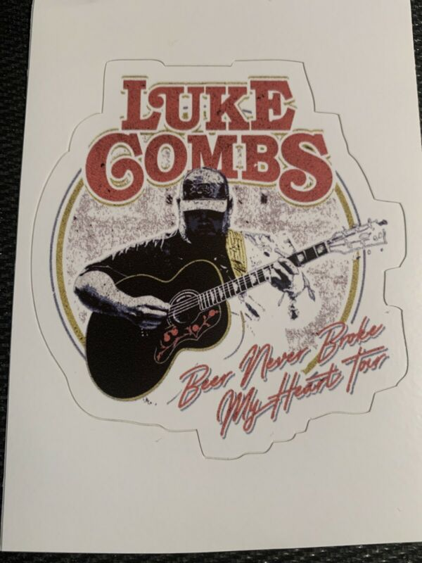 """Luke Combs Decal Sticker 3"""" x 3.2"""" - Free Shipping - Beer Concert Country Guitar"""