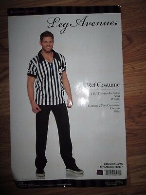 Hot Referee Costume (Mens REF REFEREE Halloween Costume XL Leg Avenue sexy)