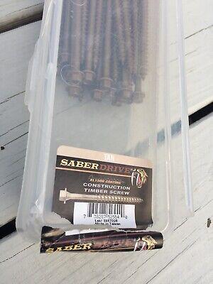 40 Pack Saberdrive 14 X 10 Construction Timber Screws 52554 Tan Open Box