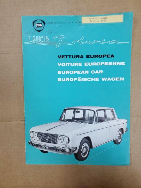 1963 Lancia Fulvia brochure