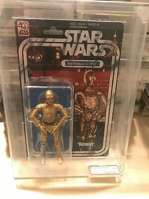 "Star Wars Black Series 40th Anniversary 6"" C-3PO AFA U8.5 See-Threepio"