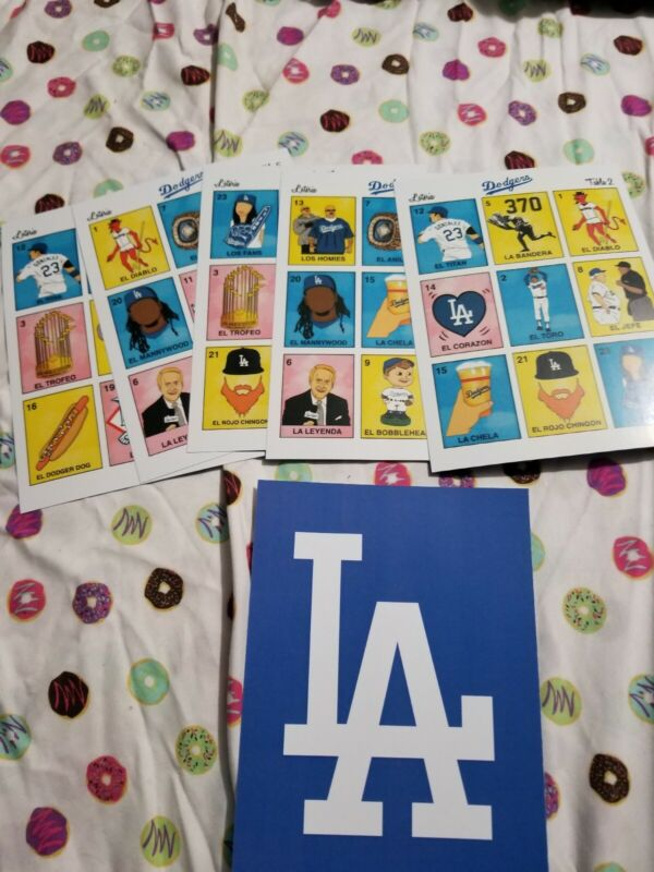 mexican board game - loteria Dodgers