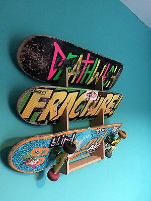 Skateboard Rack. Holds up to 3 boards. Wall Mounted.