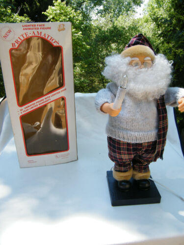 """Brite Amation 26"""" Animated Lighted Santa Claus in Box"""