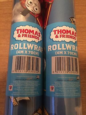 THOMAS THE TANK ENGINE, 4m WRAPPING PAPER ROLL, BIRTHDAY WRAP. (Thomas Wrapping Paper)