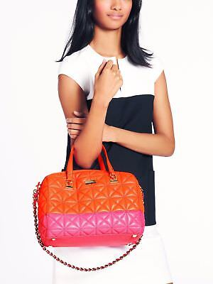 NWT Kate Spade Pxru4775 Sedgewick Place Kensey Quilted Leather Satchel