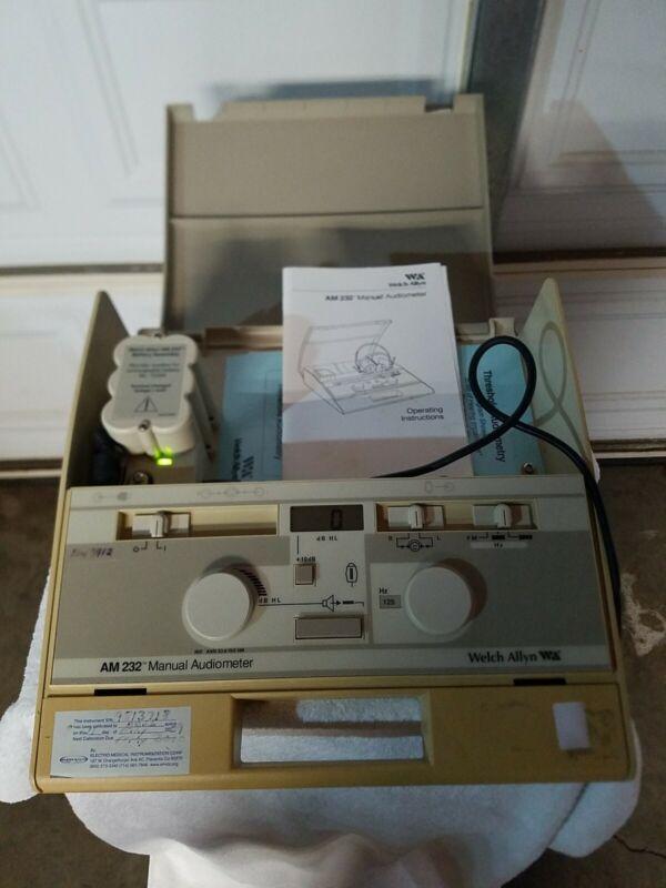 Welch Allyn AM232 Manual Audiometer AM 232