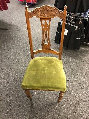 Vintage Wooden High Back Chair - Good Condition