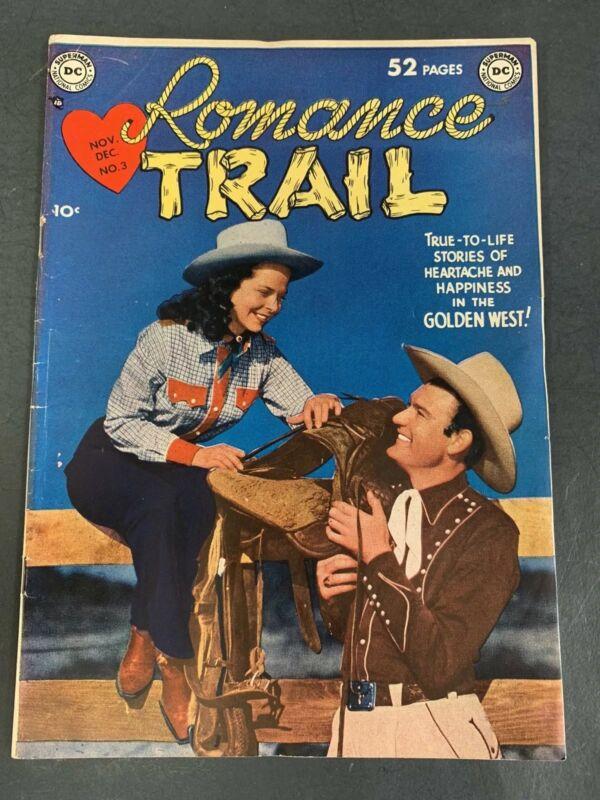 ROMANCE TRAIL # 3 (1949) DC ROMANCE COMIC BOOK - GOLDEN AGE - PHOTO COVER