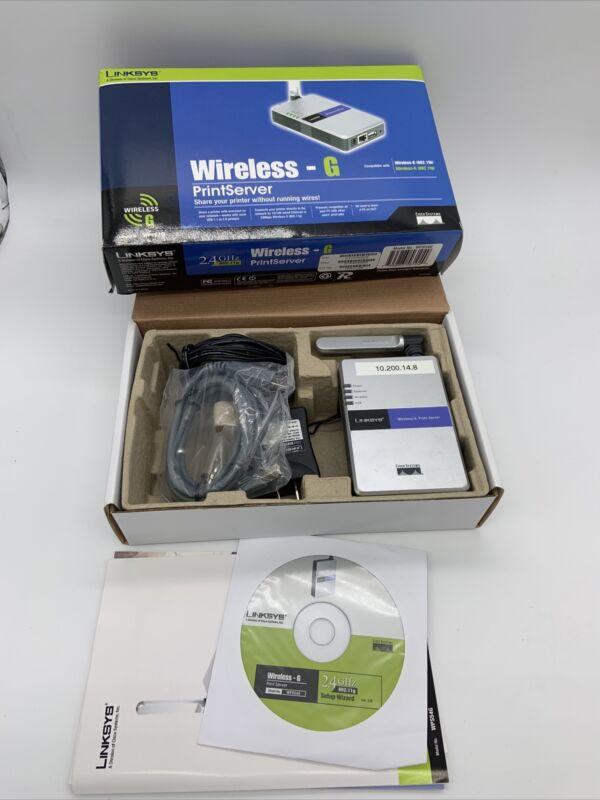 Linksys Wireless-G Print Server WPS54G 2.4GHz 802.11g