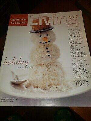 Martha Stewart Living Magazine December 2000 Christmas Snowman Toys Ornaments
