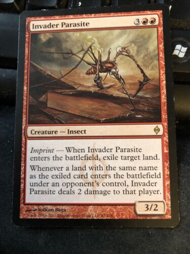 Invader Parasite X4 New Phyrexia Ex Condition See Pics Front Back - $1.99