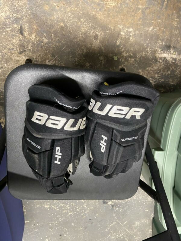 Bauer Supreme HP Ice Hockey Gloves Senior Size 14 Black/yellow
