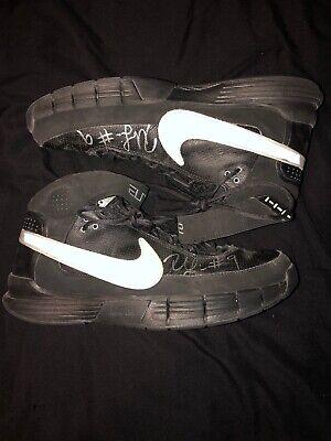 save off 2993a afa59 Rashard Lewis Game Used Signed Nike Basketball Shoes Autograph Auto