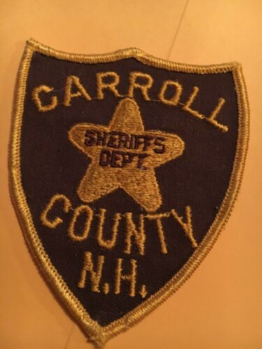 Carroll County Sheriff New Hampshire Vintage Police Patch