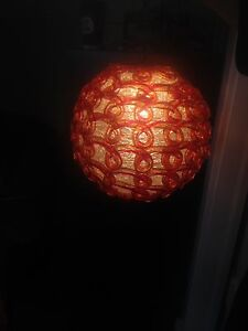 Hanging Glass Lamp  REDUCED!