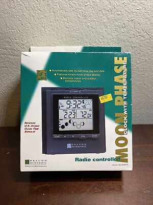 Radio Controlled Moon Phase Clock With Temperature
