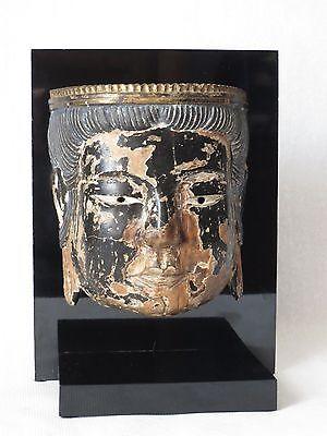 Antique 17th C. Japanese Buddha Bugaku Mask of A Boddhisattva Momoyama Period