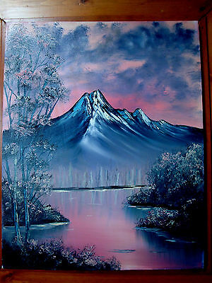 Rose Mountain  Landscape Original Oil Painting 16x20 Canvas Art Offer Welcome