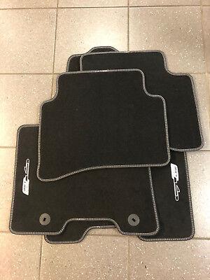 Velours Fußmatten Autoteppiche mit LOGO für KIA Sportage 2010-2015 4tlg Bef.