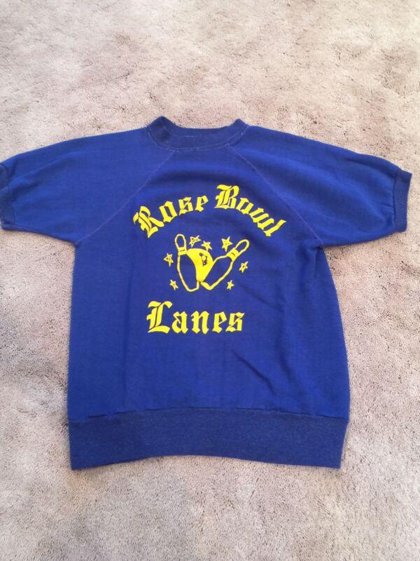 Vintage Downerwear Children's Small Sweatshirt Rose Bowl Lanes 1970's