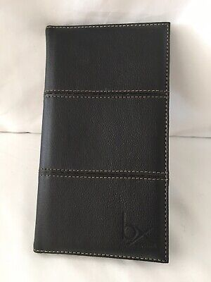 Buxton Leather Business Card File Holder