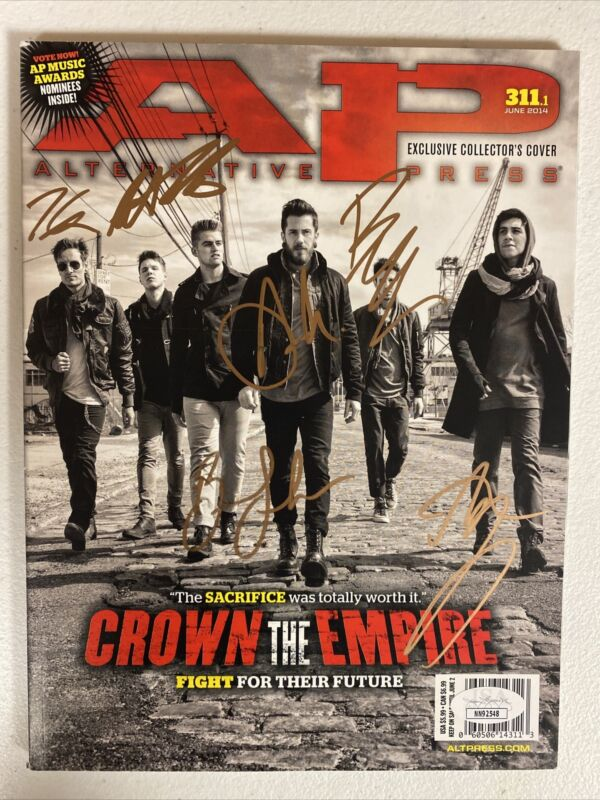 CROWN THE EMPIRE AUTOGRAPHED SIGNED MAGAZINE WITH JSA COA # NN92548