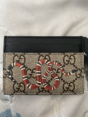 Gucci Snake Print Wallet Credit Card holder - 100% Authentic - No Box - USED