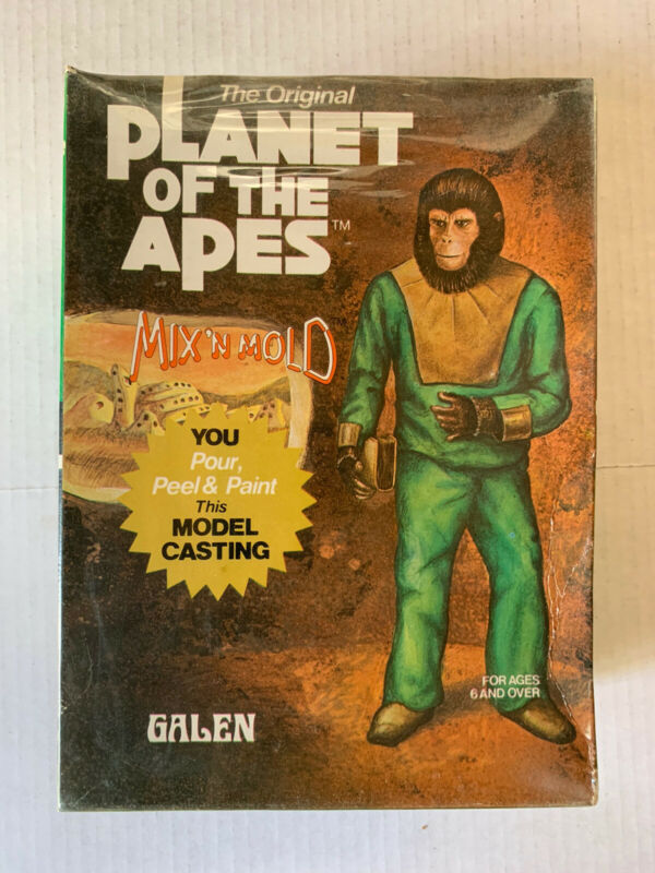 VINTAGE- Planet of the Apes Mix N Mold Galen - Sealed - 1974 POTA