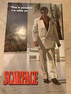 """Scarface poster - Tony Montana, Al Pacino 22.5""""x34.5"""" Paradise"""
