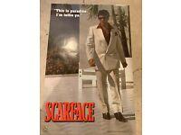 """Scarface poster Tony Montana Al Pacino 22.5/""""x34.5/"""" Paradise"""