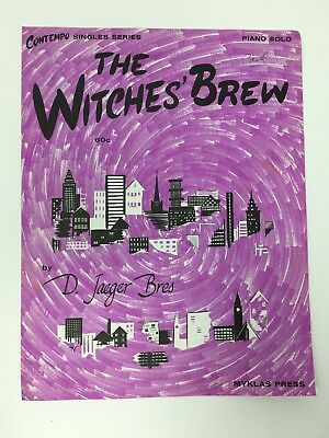 The Witches' Brew by D. Jaeger Bres Sheet Music Halloween 1973