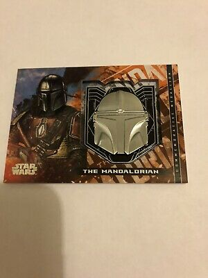 2020 Topps Star Wars The Mandalorian Season 1 Medallion M-MH Mandalorian Helmet