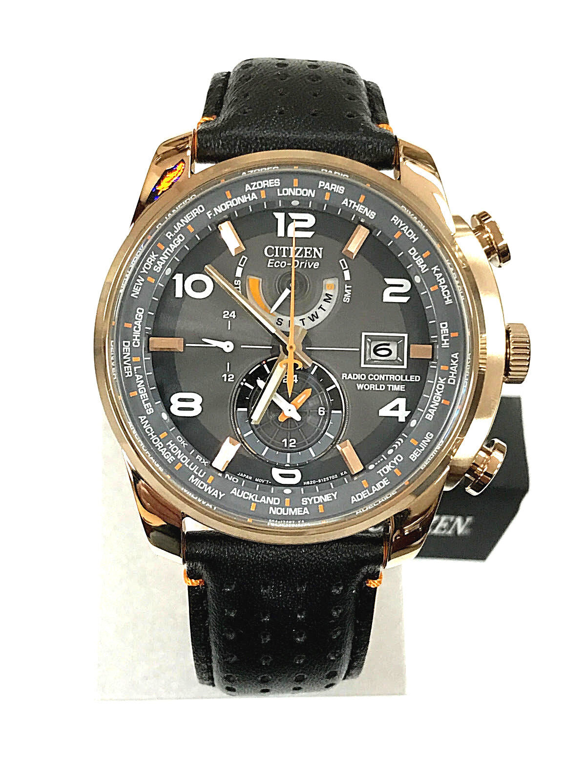 $229.95 -  NEW Citizen AT9013-03H World Time  Rose Gold Men's Watch 3 YEARS WARRANTY