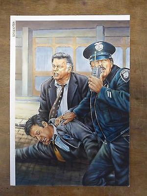 Originalzeichnung Kommissar X  ? von Günther König Nr. ? Titelbild Romanheft