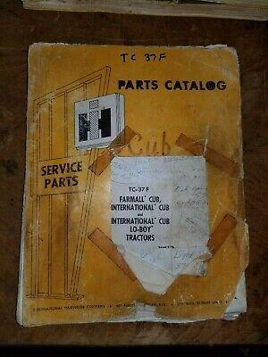 Original International Harvester Parts Manual For Farmall Cub Tractors Tc-37f