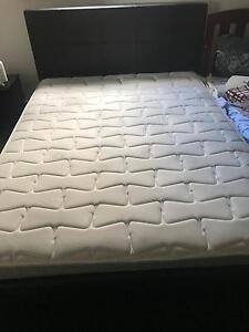 Queen size bed ad mattress almost new condition Tarneit Wyndham Area Preview