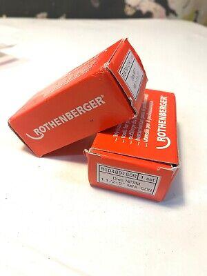 Rothenberger 89163 Ridgid 47750 Dies 1-2 In. Npt Npsm 1 12-2 In. Mini-con